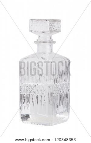 Vintage decanter isolated on white background
