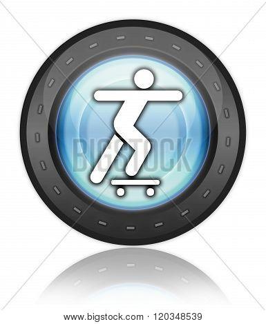 Icon, Button, Pictogram Skateboarding