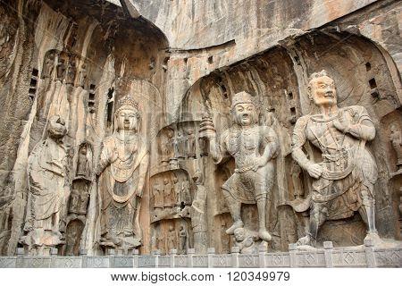 Figures in Longmen Caves