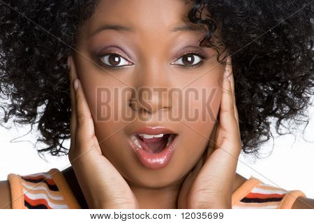 Shocked African American Woman