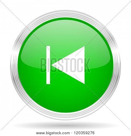 prev green modern design web glossy icon