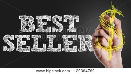 Hand writing the text: Best Seller