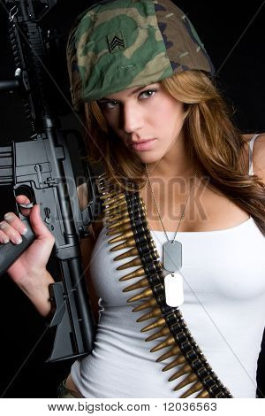 Sexy Military Woman poster