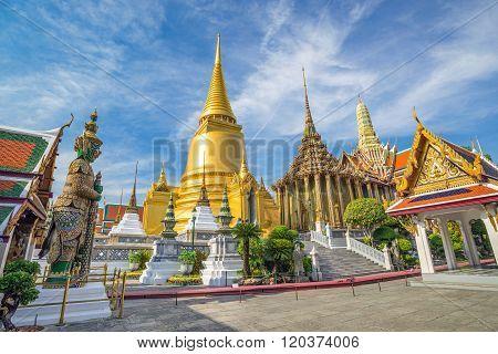 Wat Phra Kaew Temple , Bangkok , Thailand