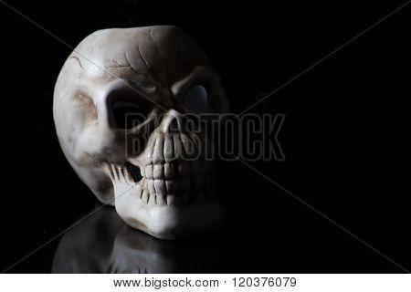 Shadowy Skull On Black