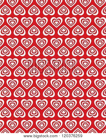 Vector red heart pattern and wall paper