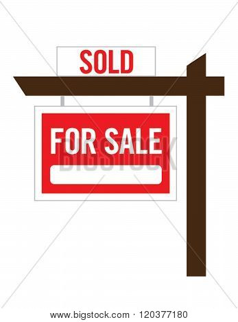 Vector Real Estate For Sale Sign