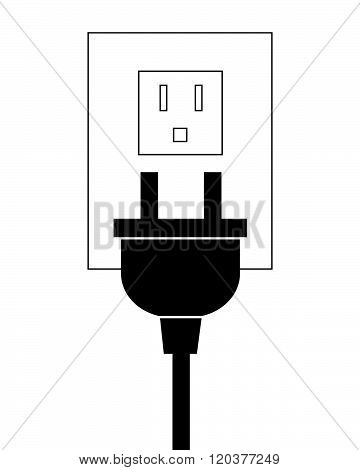 Vector Electrical Plug and Outlet