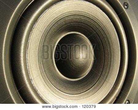 Closeup Of A Loudspeaker Element