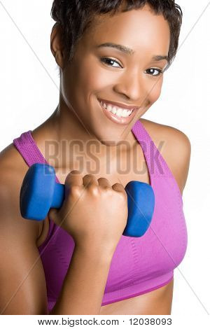 Smiling Exercising Woman