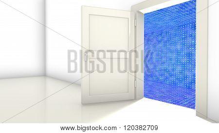 Door To Encrypted Hallway