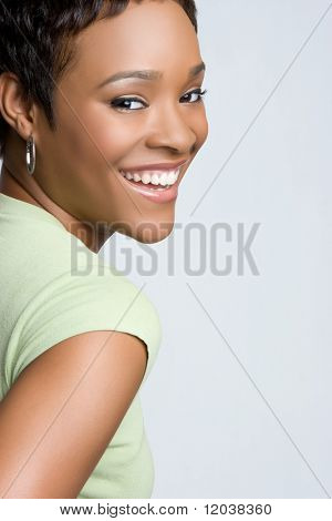 Beautiful Smiling Black Woman