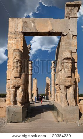 Gate Of Xerxes Palace In The Ruins Of Ancient Persepolis