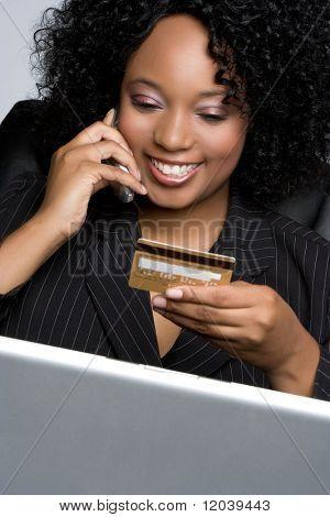 Kreditkarte geschäftsfrau