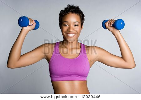 Black Woman Exercising