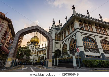 Sultan Mosque Sunset