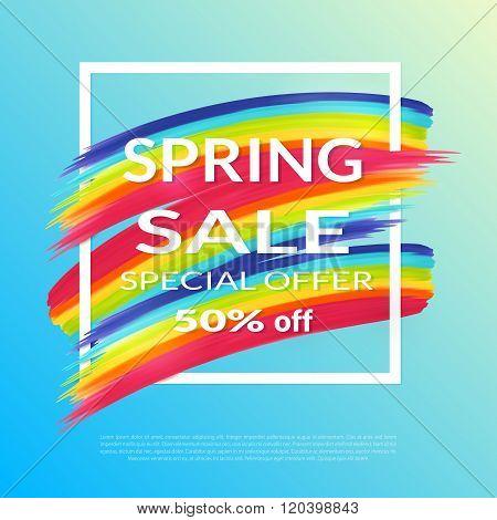 Spring Sale banner design template.