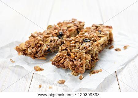 Granola Bars On Baking Paper