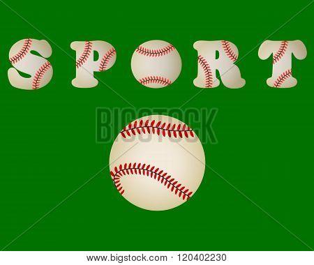 Baseball Ball Written Word Sport