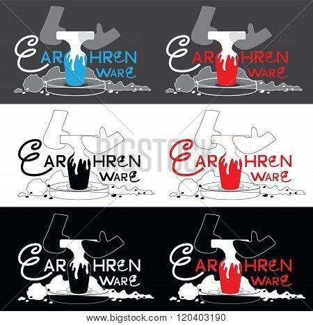 Earthen Ware Industry Logo Six Design