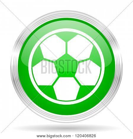 soccer green modern design web glossy icon