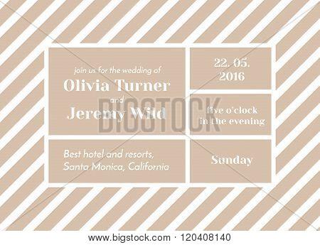 Striped Invitation