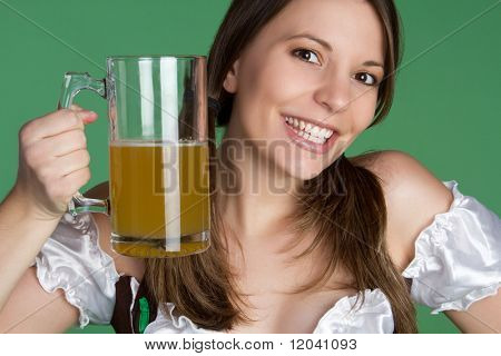 St Patrick's Day Woman Holding Beer