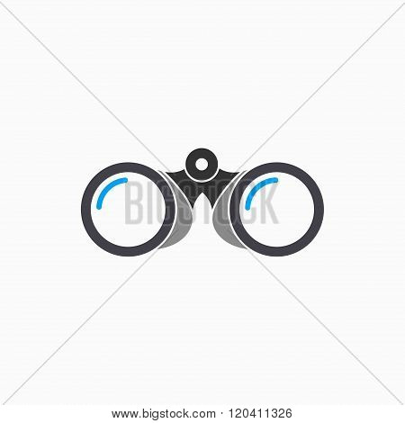 Binocular vector icon. Illustration isolated on white background for graphic and web design.