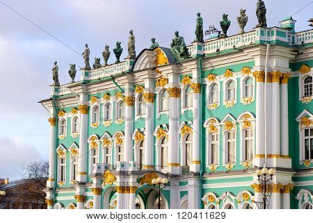 Winter Palace of Saint Petersburg. Hermitage. Landmark of Russia.