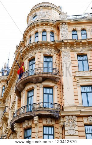 Art nouveau (Jugendstil) building in the centre of Riga, Latvia