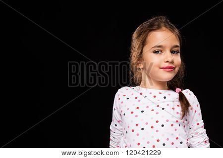 Little Girl Playing A Model