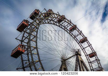Ferris Wheel At Prater, In Vienna, Austria.