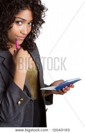 Donna scrittura Check