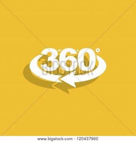 Rotation Of 360 Gradusav, Web Icon.