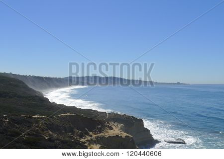Scene of Torrey Pines Trail and California Coastline poster