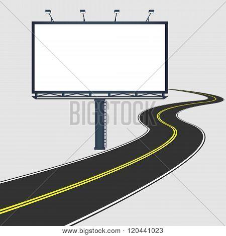 Billboard With Road
