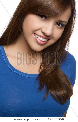 Beautiful smiling hispanic girl headshot