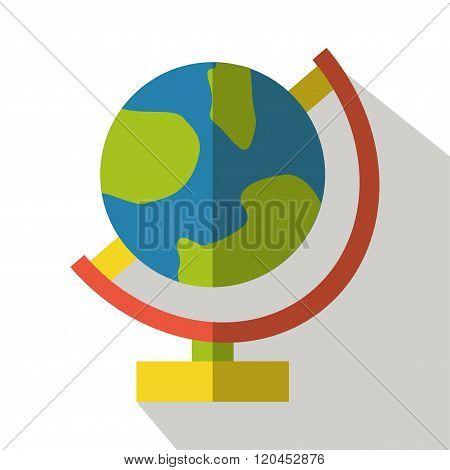 Globe icon vector flat isolated earth logo