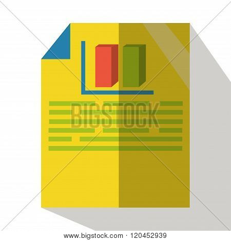 Business plan icon vector flat isolated front view