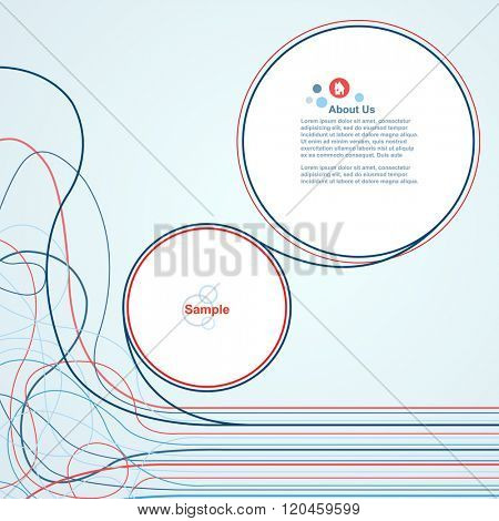 Wire line waves with speech bubbles vector design