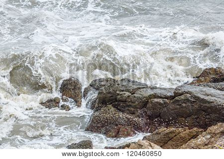 Churning Sea Water
