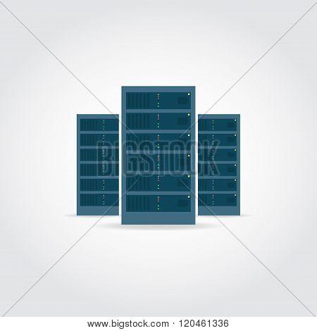 Three Servers Illustration