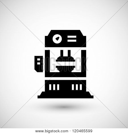 Hydraulic press machine icon