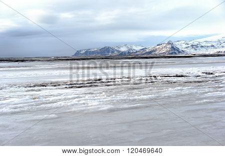 Ice Covered Beach