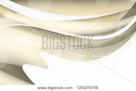 Abstract Beige Background With Wave. Vector Illustration