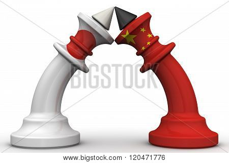 The confrontation between China and Japan. The concept