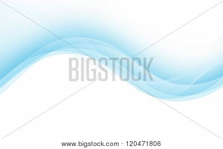 Abstract Background With Blue Lines. Vector Illustration