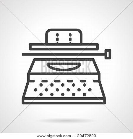 Typewriter black line design vector icon