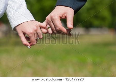 Lovers Holding Hands The Pinky