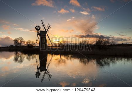 Mill At Sunset